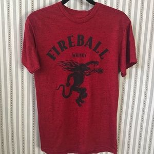 Fireball Whisky Red Graphic Tee Shirt